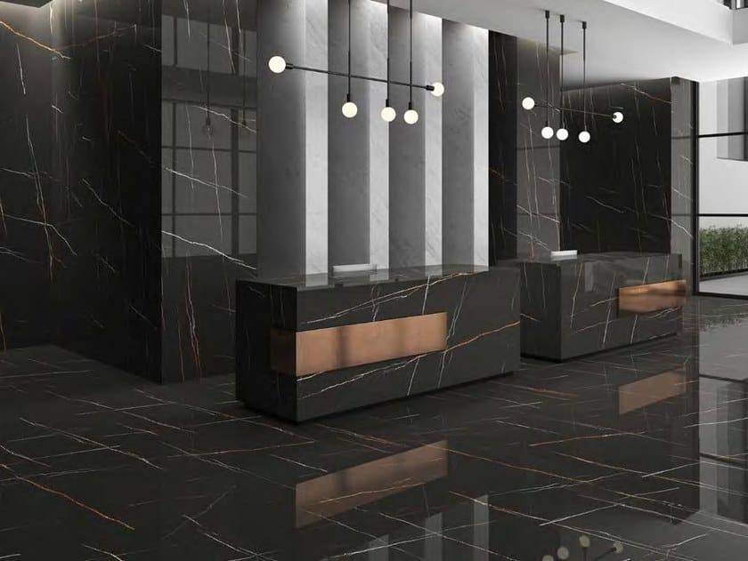 Sintered ceramic wall/floor tiles with marble effect SAHARA NOIR by ITT Ceramic