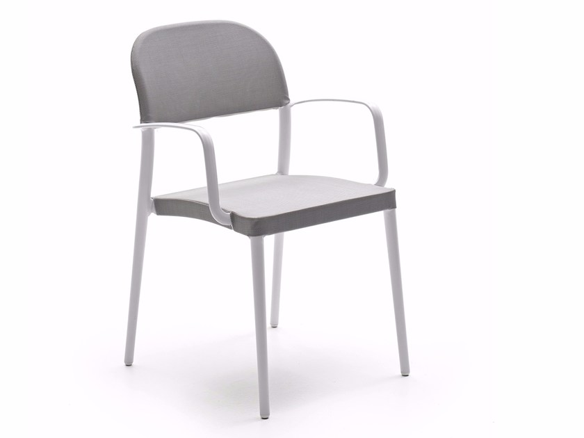 Fabric garden chair with armrests SAIA | Chair with armrests by Varaschin