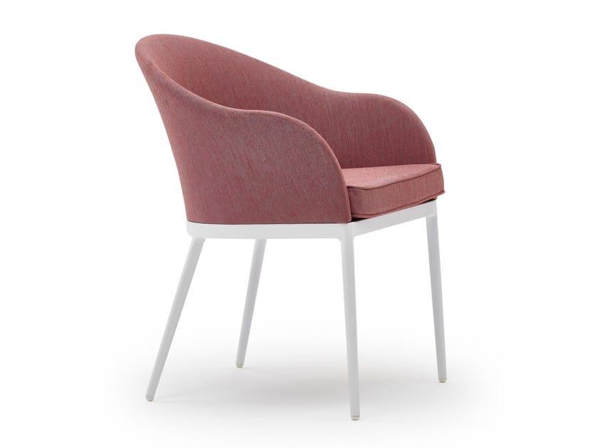 Upholstered restaurant chair SAIA | Restaurant chair by Varaschin