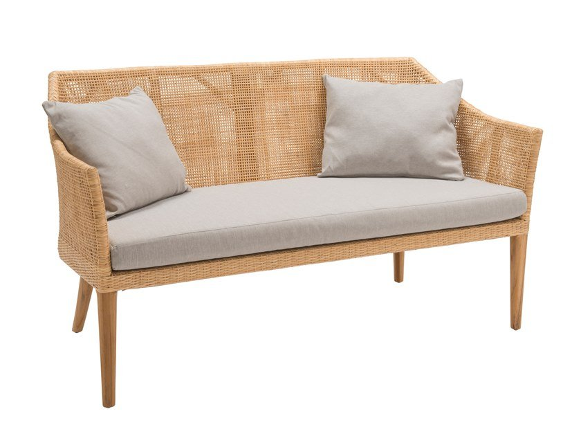 2 seater rattan sofa SAIGON | 2 seater sofa by Kok Maison