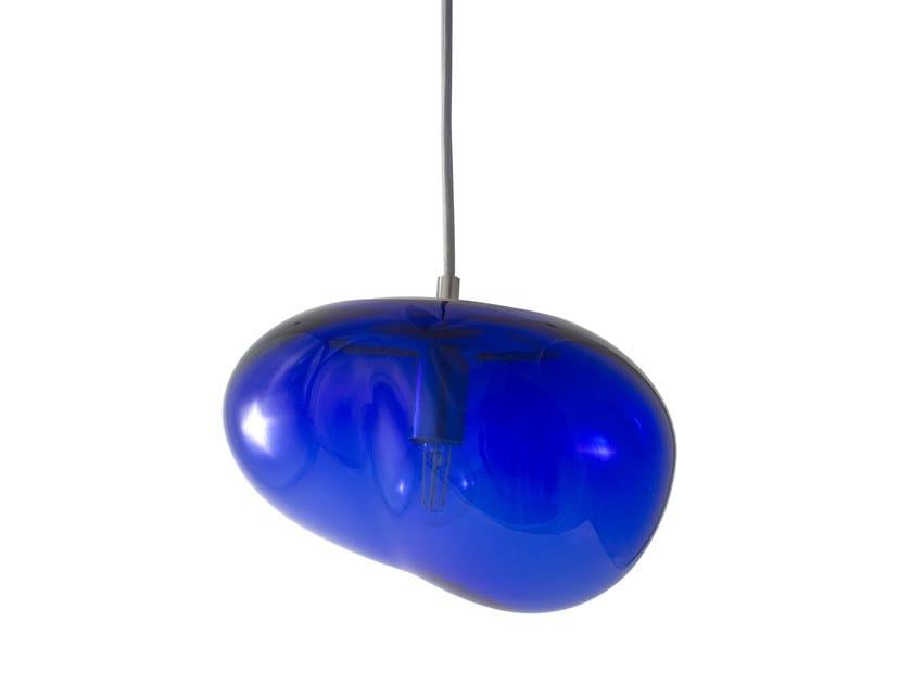 LED handmade blown glass pendant lamp SAIKI | Pendant lamp by ELOA