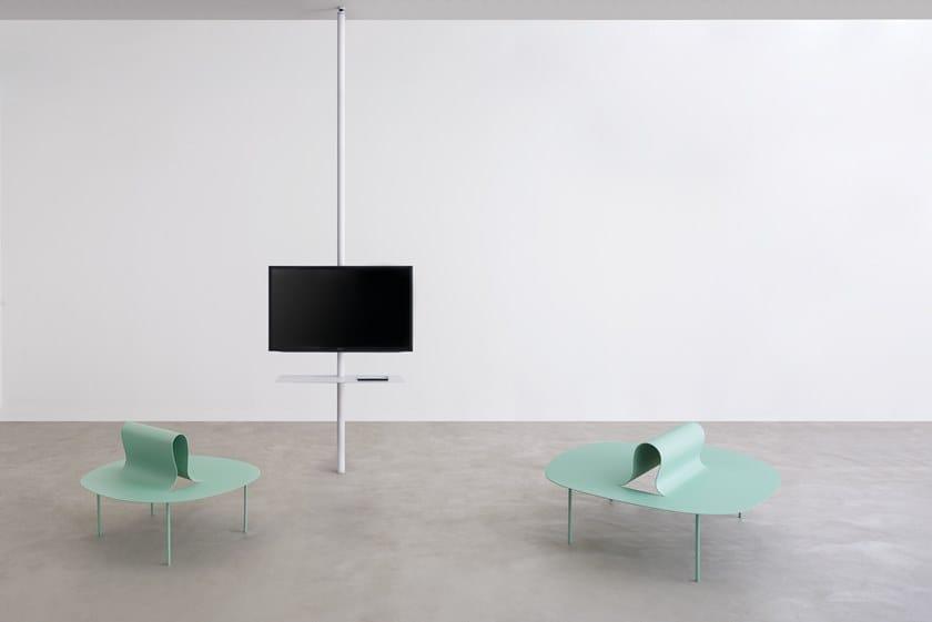 Supporto per monitor tv in metallo da soffitto sail 307 by desalto - Porta tv da soffitto ...