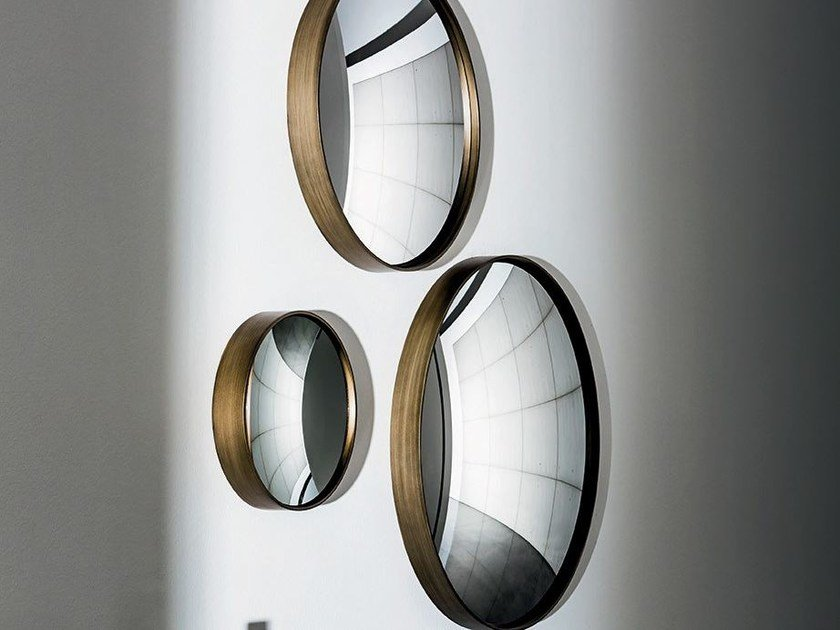 Round wall-mounted mirror SAIL by Sovet italia