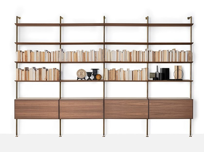 Floor-ceiling mounted bookcase SAILOR by Living Divani