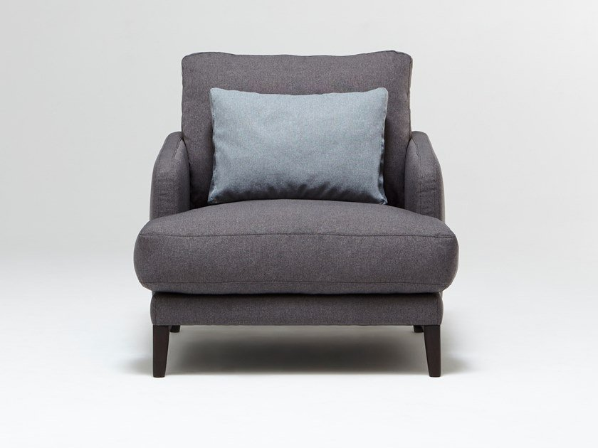 Fabric armchair with armrests SAINT GERMAIN | Armchair by Burov