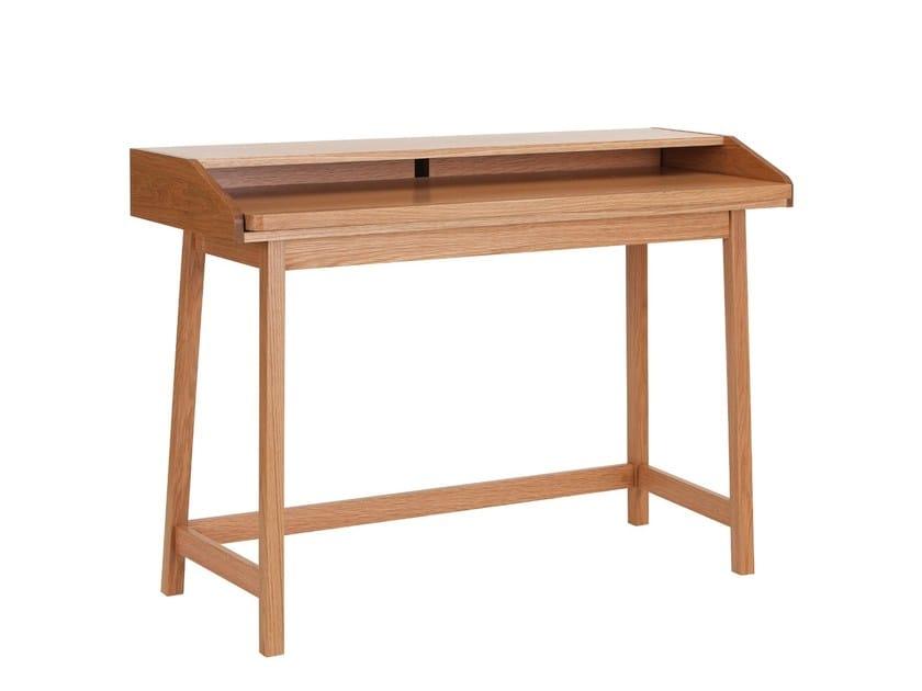 Wood veneer secretary desk ST JAMES by Woodman
