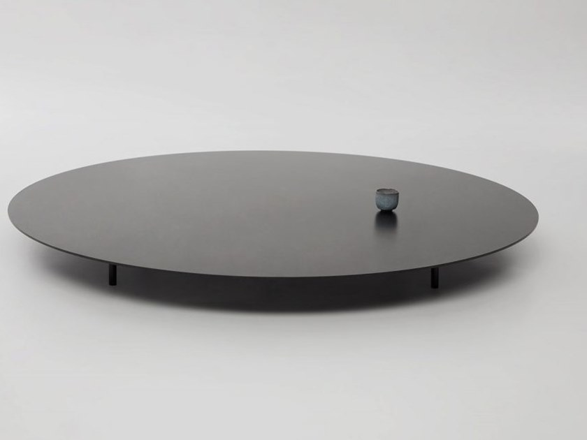 Round steel coffee table SAINT-LAURENT - T02-S by Foraine by Atelier Barda