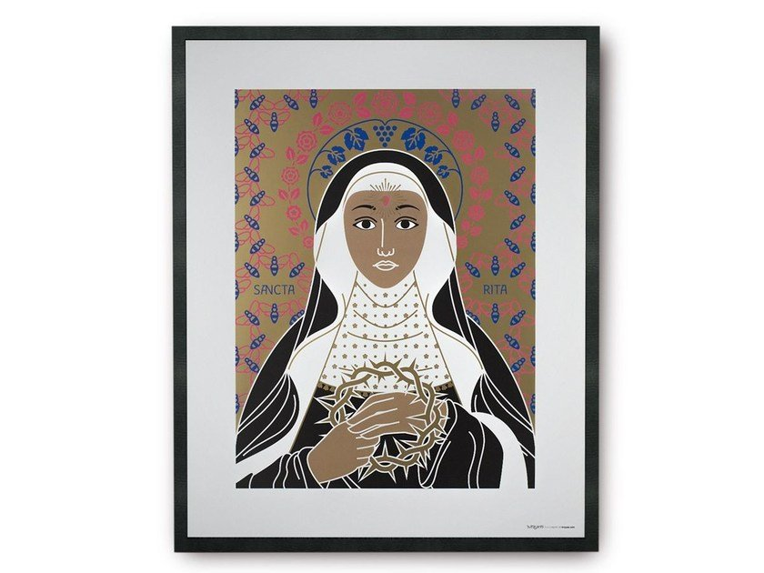 Coated paper Print on paper SAINT RITA | Print on paper by TuttiSanti