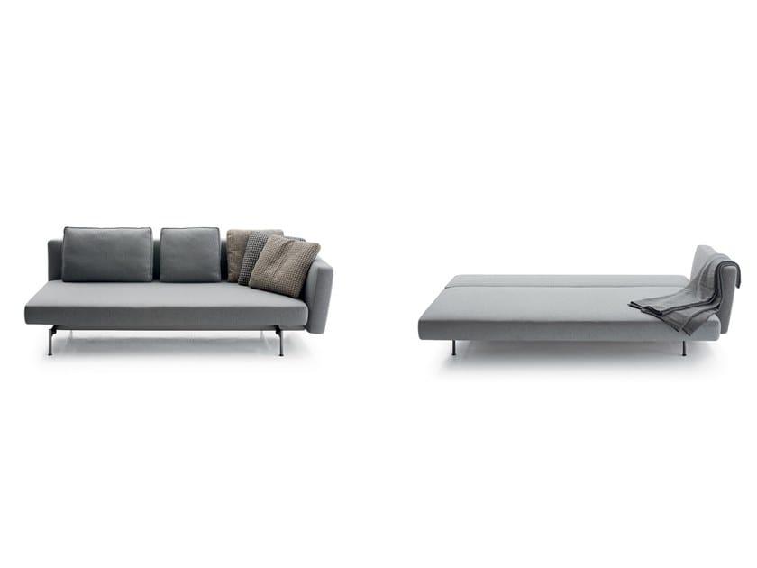 Leather sofa bed SAKÉ | Sofa bed by B&B Italia