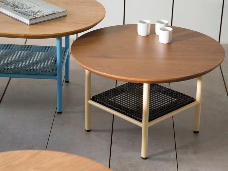 Round teak side table SALBE   Side table by Kann Design