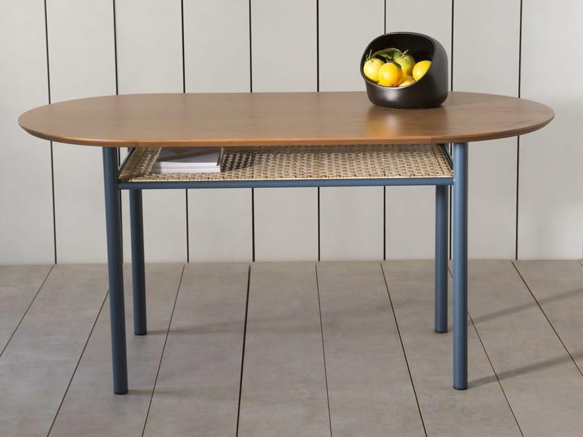 Oval teak dining table SALBE | Teak table by Kann Design