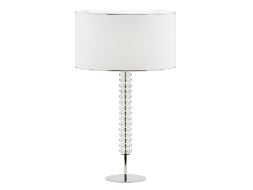 Glass and Stainless Steel table lamp SALDANHA by Green Apple