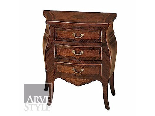 Solid wood bedside table with drawers PARIGI   Bedside table by Arvestyle