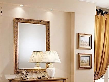 Rectangular wall-mounted framed mirror ROSSINI | Mirror by Arvestyle