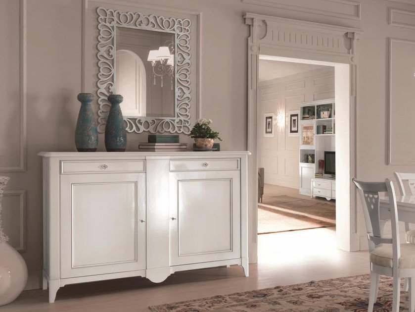 Lacquered sideboard with doors SALIERI   Lacquered sideboard by Arvestyle