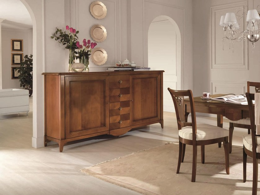 Solid wood sideboard with doors SALIERI   Sideboard with drawers by Arvestyle