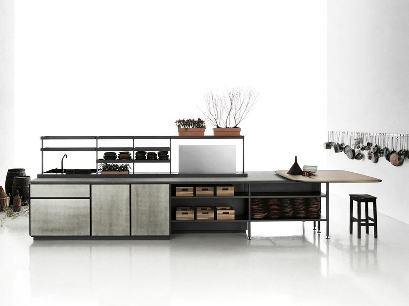 kitchen with island salinas by boffi design patricia urquiola. Black Bedroom Furniture Sets. Home Design Ideas