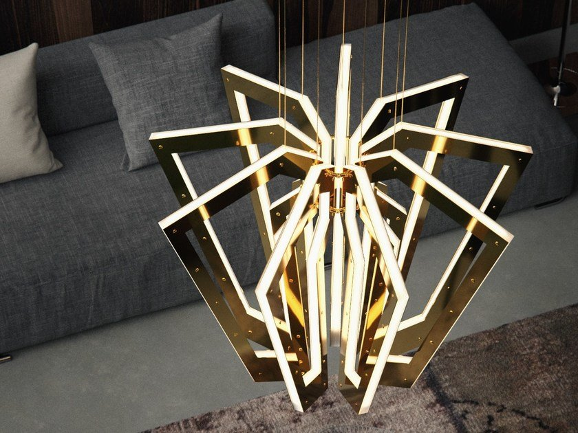 Handmade metal pendant lamp SALLA by Cameron Design House