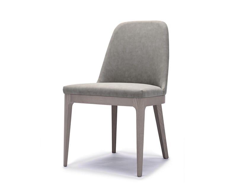Sedia in pelle con struttura in legno massello di faggio SALLY by INTERNA8