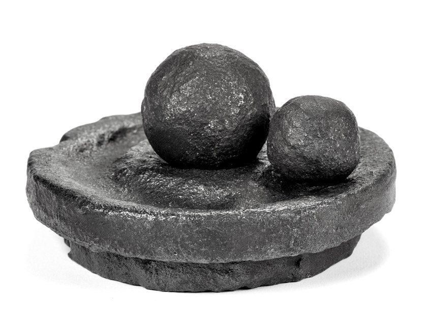 Salt and pepper mill in cast iron ROCK THE PEPPER, ROLL THE SALT by valerie_objects