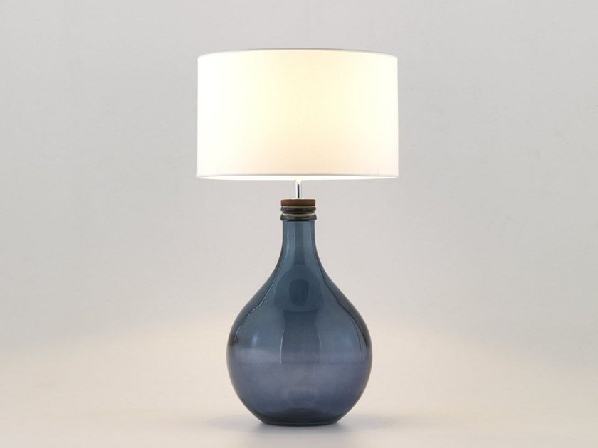 Recycled glass table lamp sam by aromas del campo aloadofball Choice Image