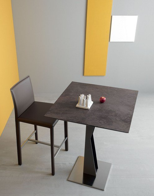 Square ceramic high table SAM | High table by Italy Dream Design