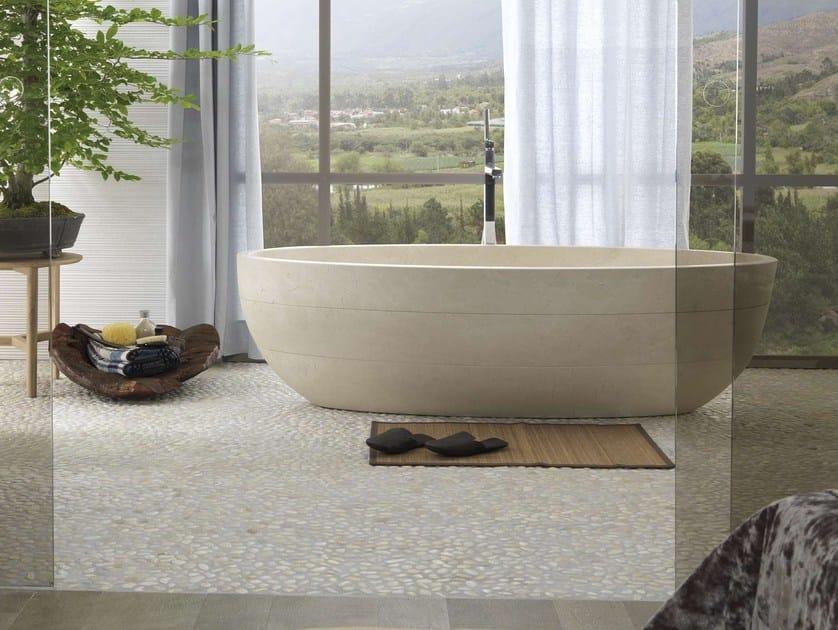 Vasca Da Bagno In Pietra Naturale Prezzi : Vasca da bagno centro stanza ovale in pietra naturale samara bioprot
