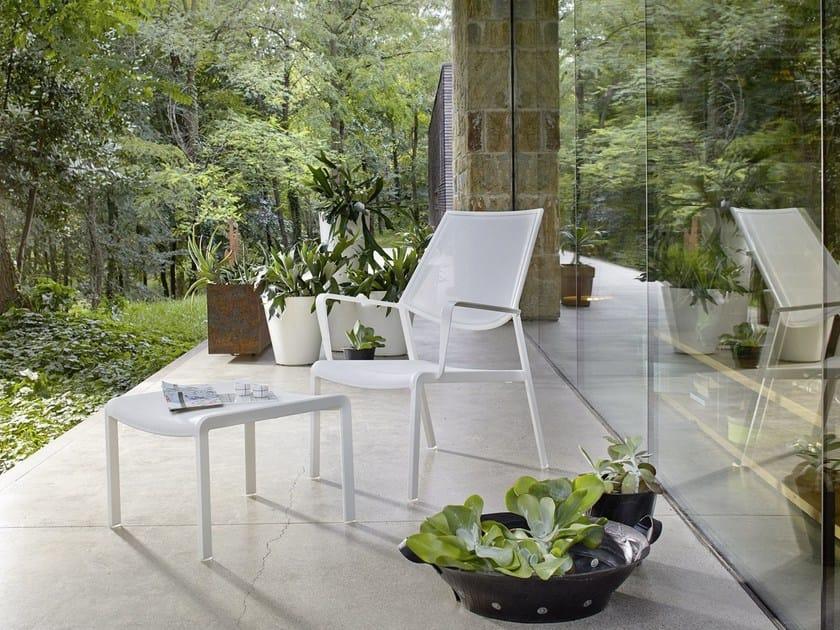 Aluminium garden chair with armrests SAMBA RIO   Garden armchair by Roberti Rattan