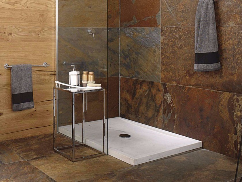 Rectangular natural stone shower tray SAMUI by L'antic Colonial