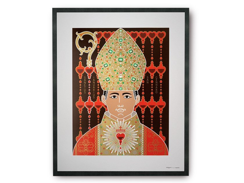 Coated paper Print on paper SAINT GENNARO by TuttiSanti