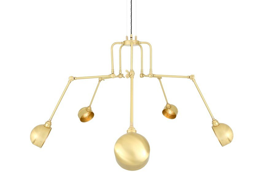 Swivel brass chandelier SAN JOSE 5 Arm by Mullan Lighting