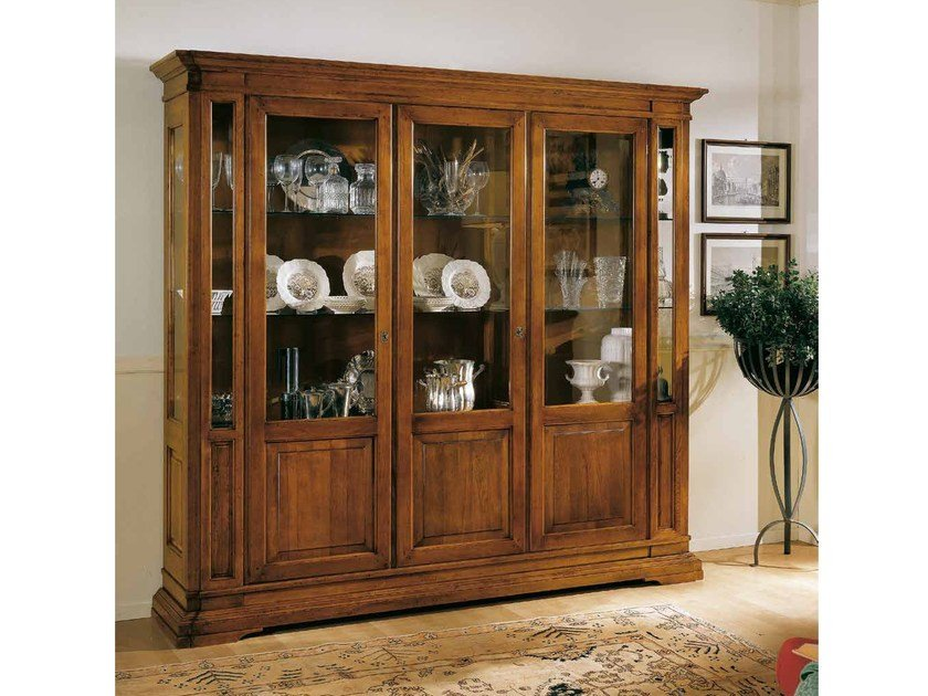 Solid Wood Display Cabinet San Marco By Arvestyle