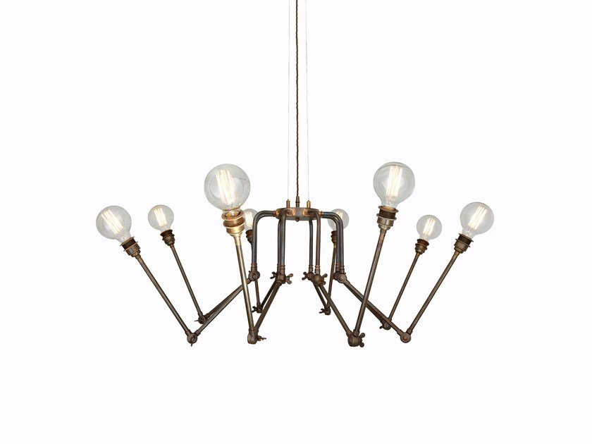 Swivel brass chandelier SAN MATEO by Mullan Lighting