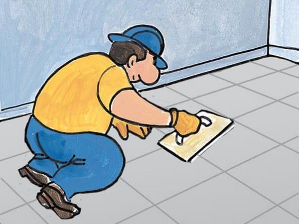 Flooring grout SANASTUCK by Azichem