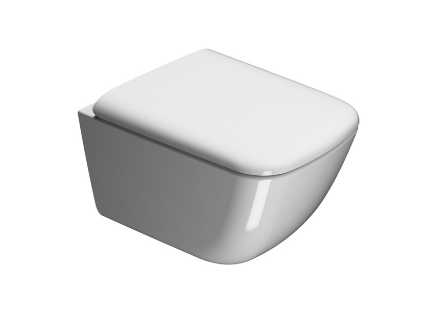 Wall-hung ceramic toilet SAND 50 | Wall-hung toilet by GSI ceramica