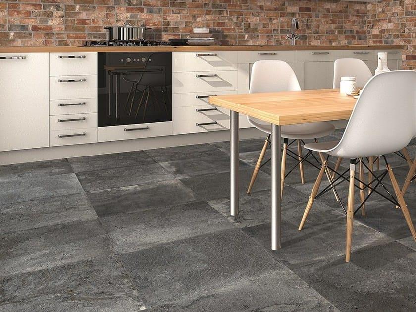 Ceramic Granite Flooring With Concrete Effect Sand By Estima Ceramica