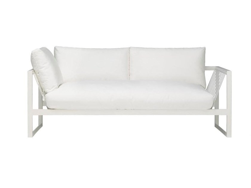 Contemporary style 3 seater upholstered steel outdoor leisure sofa SAND SF4325 by Andreu World