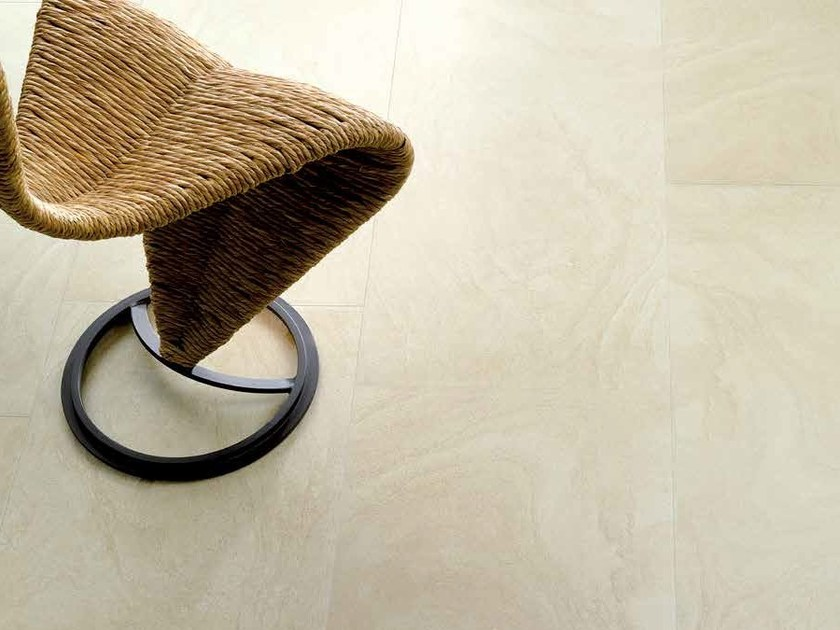 Indoor/outdoor porcelain stoneware flooring with stone effect SANDSTONE by Venis