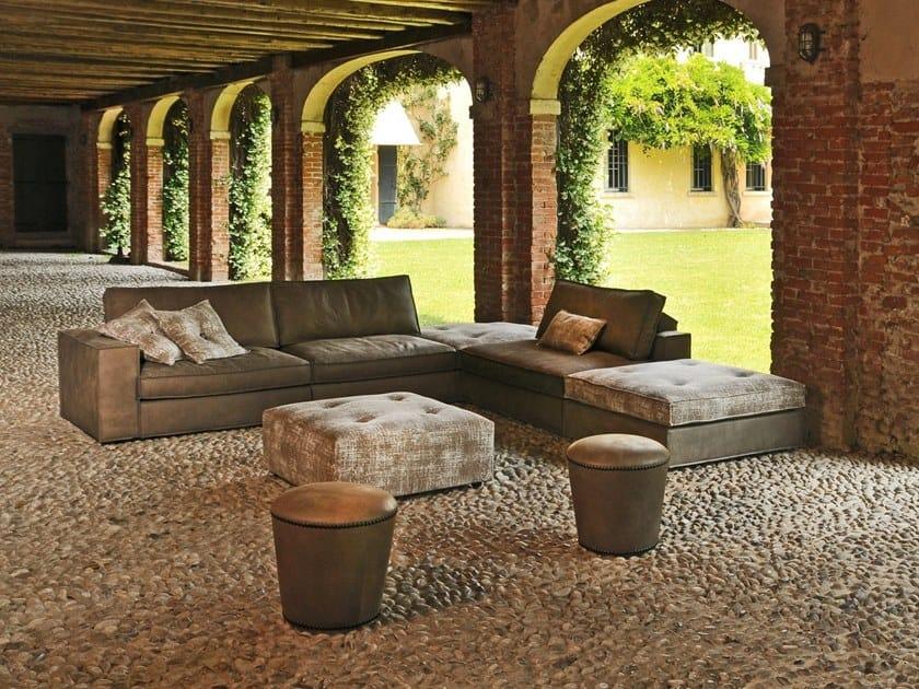 Corner leather sofa SANDY-C | Corner sofa by Gobbo Salotti