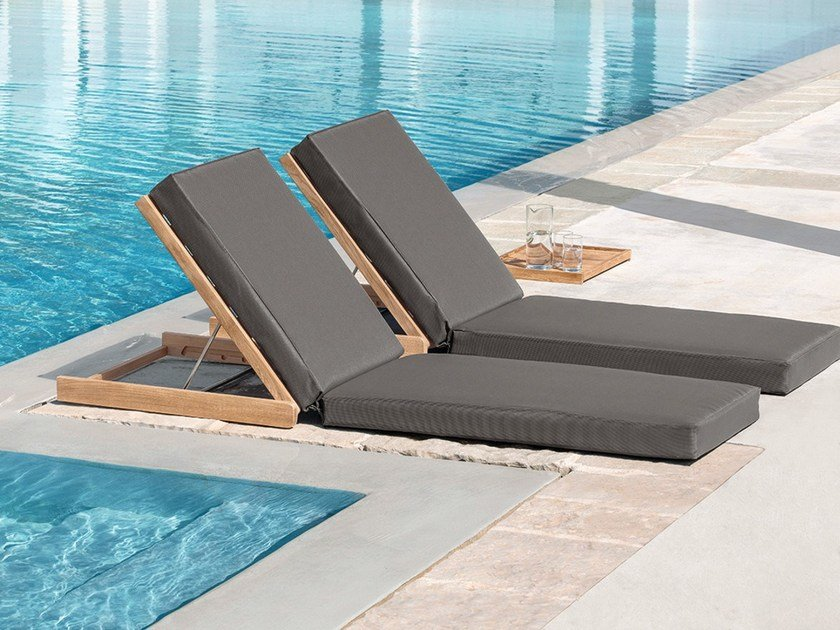 Recliner teak garden daybed SANDY by Ethimo