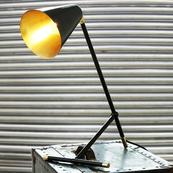 Handmade brass table lamp santa clara modern industrial table lamp by mullan lighting