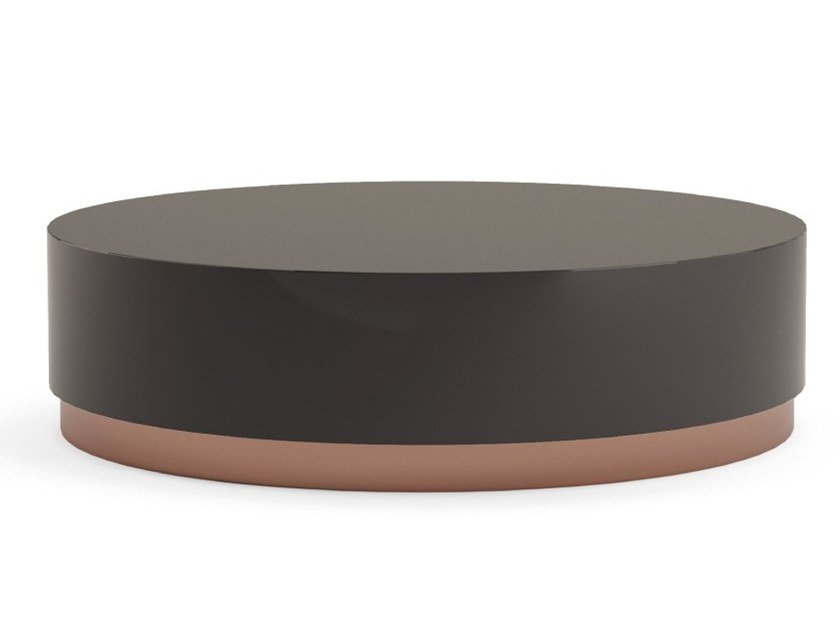 Lacquered stainless steel and wood coffee table for living room SANTA by PRADDY