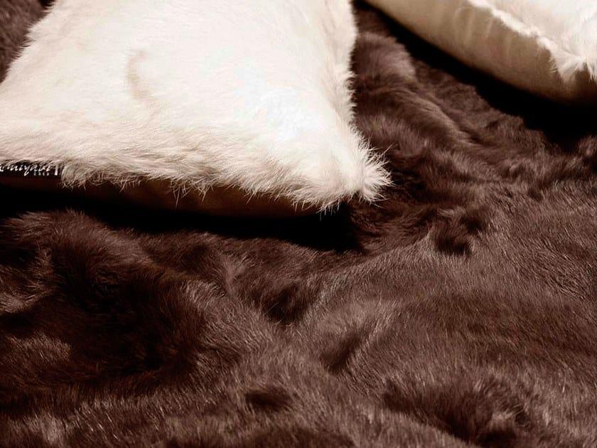 Natural fur throw and cushions SANTI by Miyabi casa