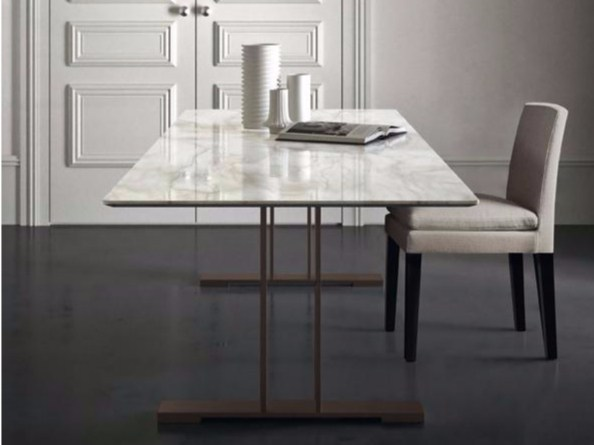 Rectangular marble table SANTIAGO by Casamilano