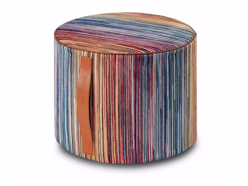 Fabric pouf with removable lining SANTIAGO | Pouf by MissoniHome