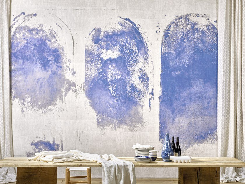 Washable panoramic vinyl wallpaper SANTORIN by Élitis