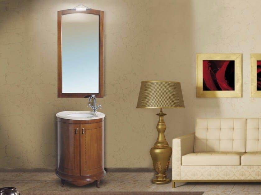 Vanity unit with doors with mirror SANTORINI CM16DC by LA BUSSOLA