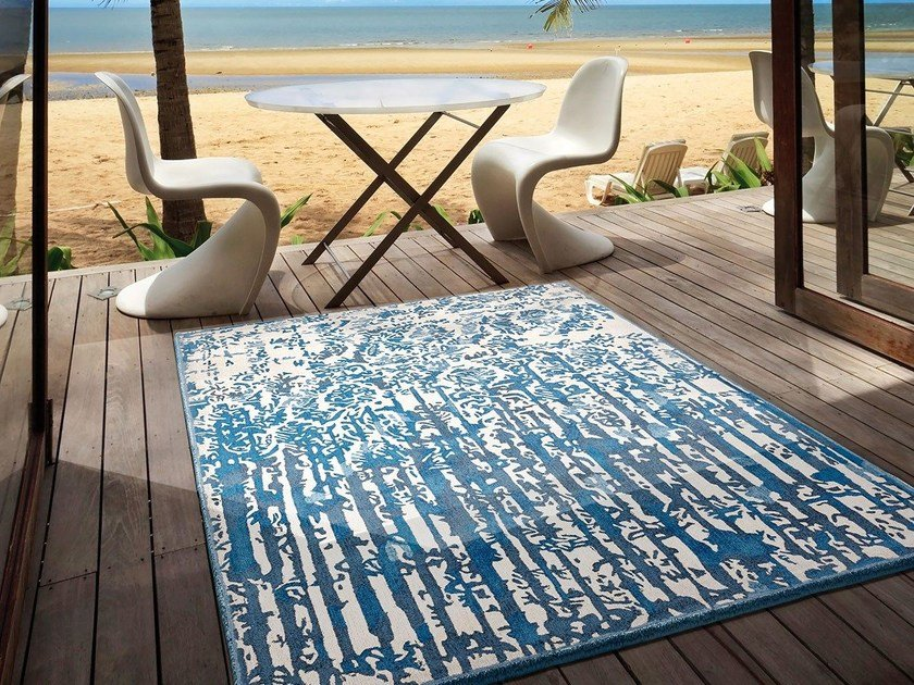 Rectangular silk rug SANTORINI by Italy Dream Design