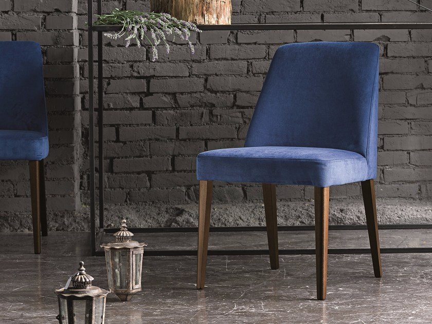 Upholstered fabric chair SARA by Dall'Agnese