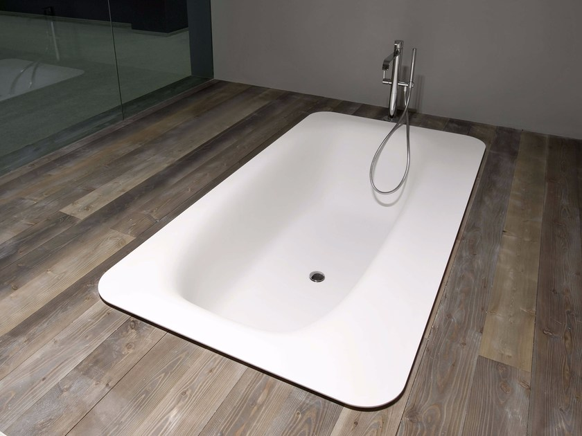 Built-in Cristalplant® bathtub SARTORIALE by Antonio Lupi Design